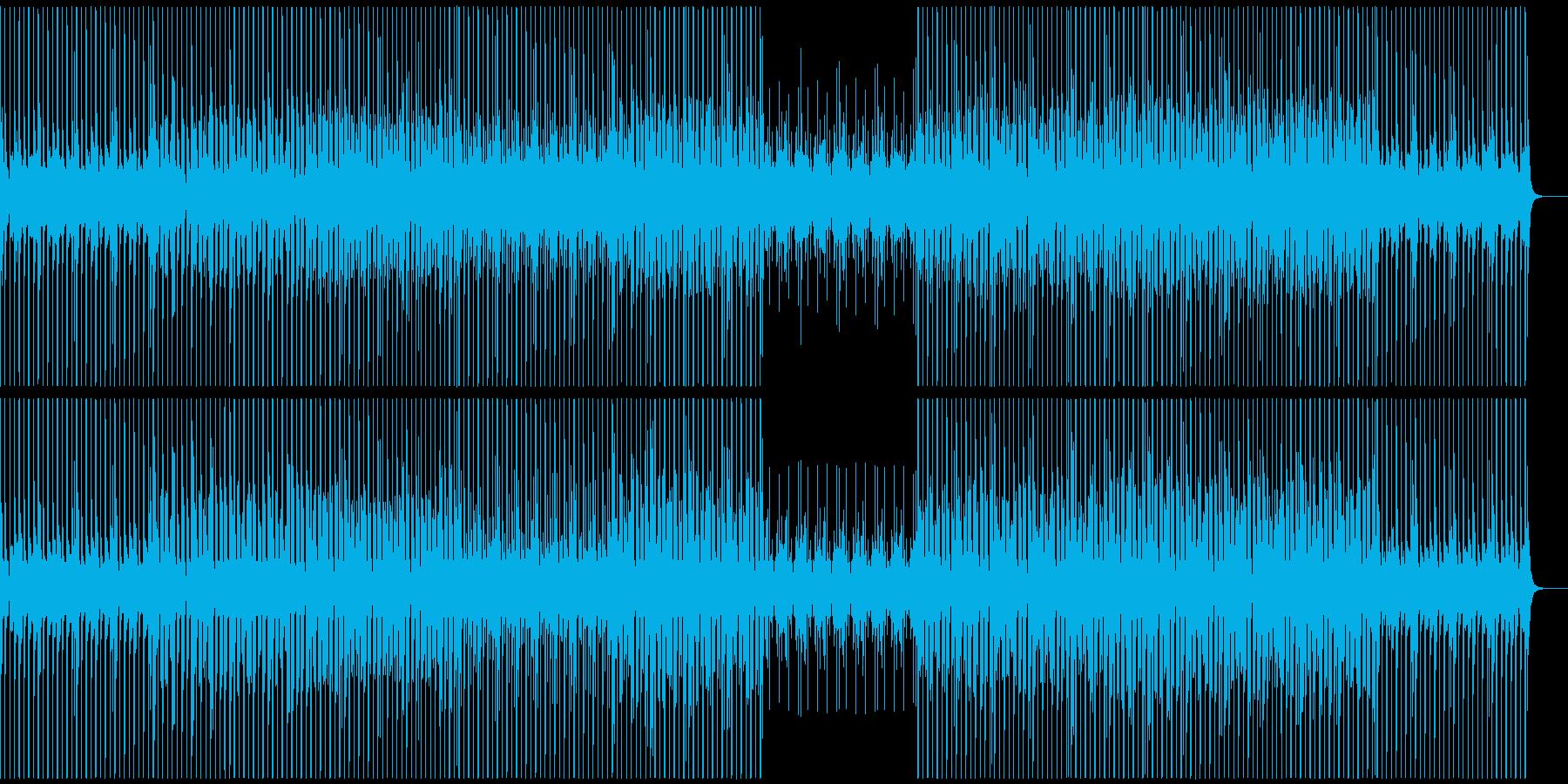 ハイテクなCMで使われそうなテクノの再生済みの波形