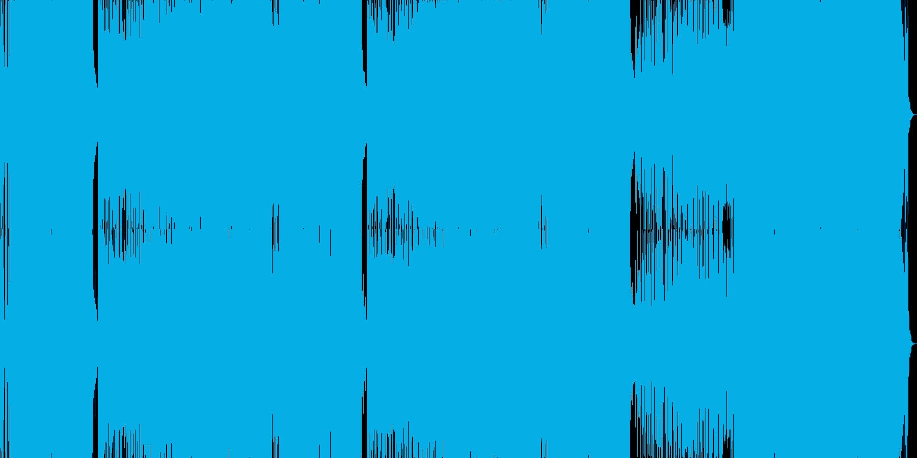 強烈なビート(緊迫/危機/緊急/異常)の再生済みの波形