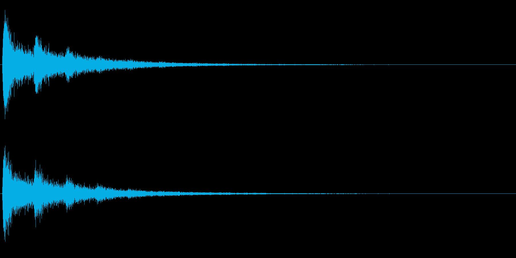 ターンッ(心霊や怪談や怖い映像などに)の再生済みの波形