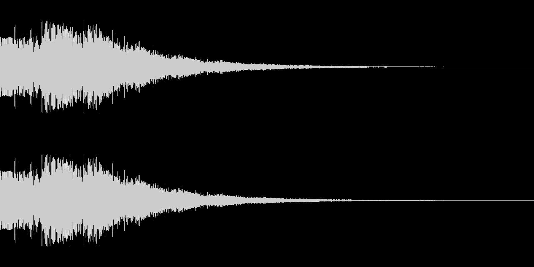 ゲームスタート シンセサイザー1の未再生の波形