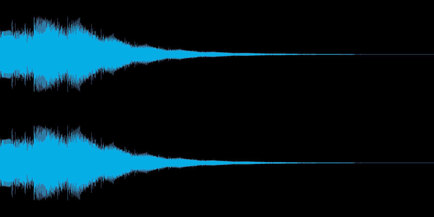 ゲームスタート シンセサイザー1の再生済みの波形