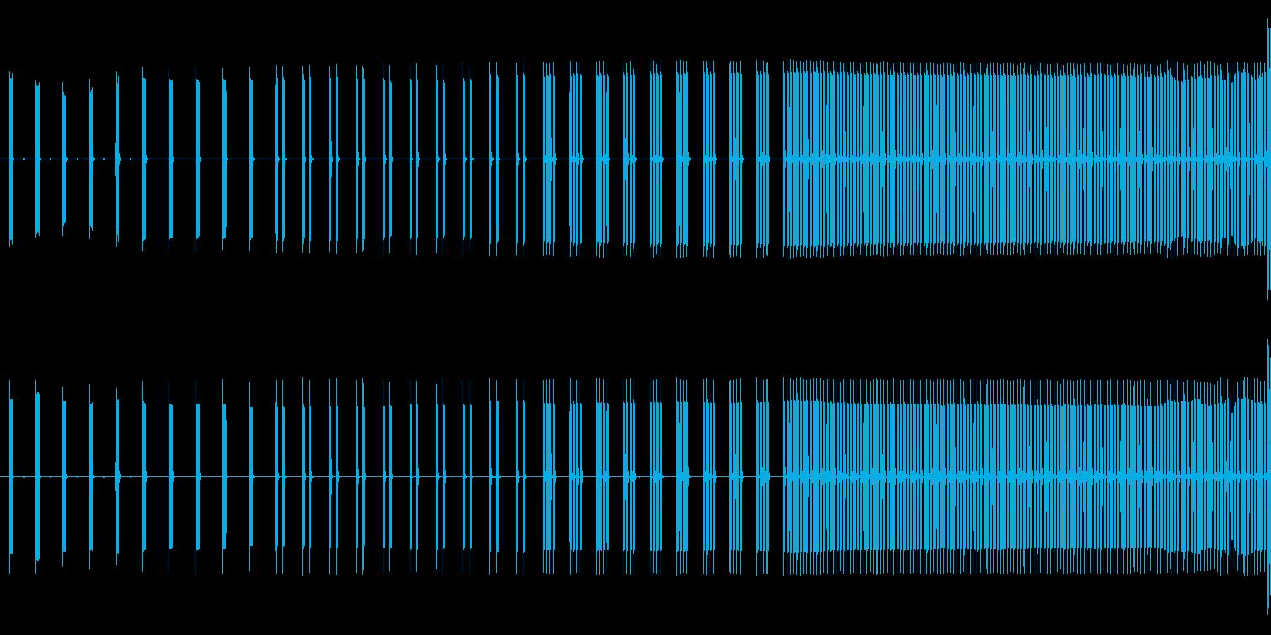 目覚まし時計アラーム。電子音。の再生済みの波形