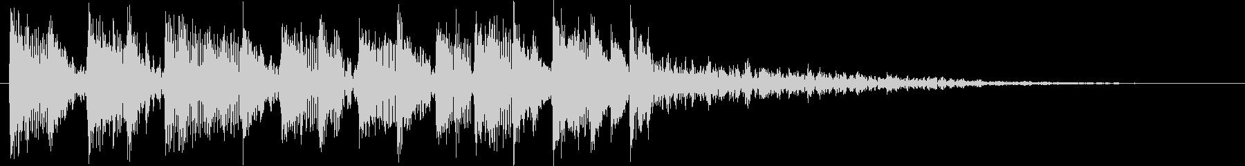 エレクトリックなカウントダウンのジングルの未再生の波形