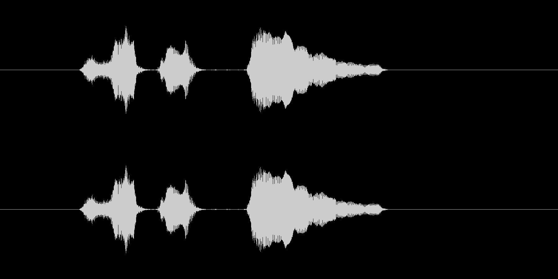 スイッチ オーンの未再生の波形