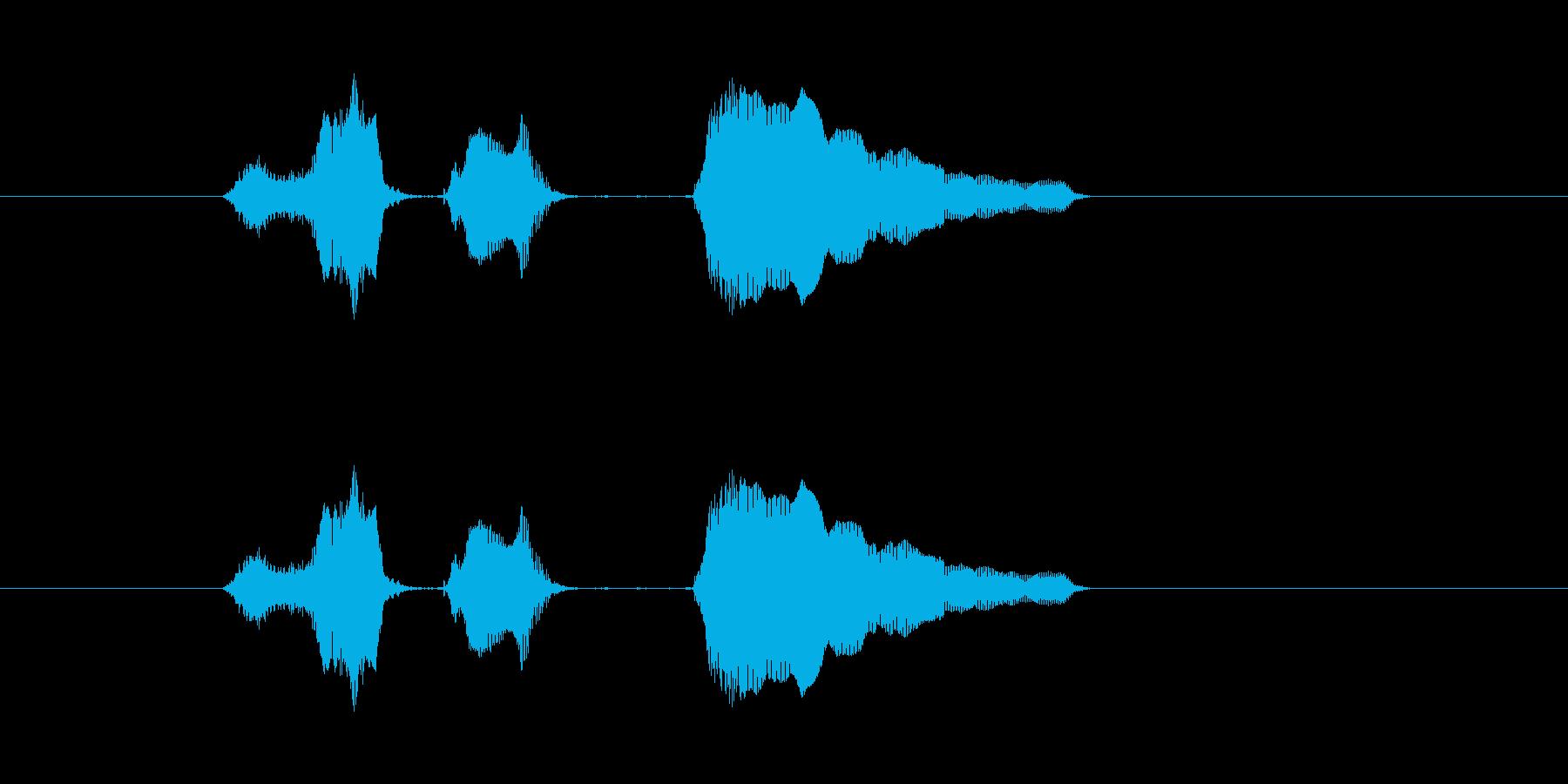スイッチ オーンの再生済みの波形