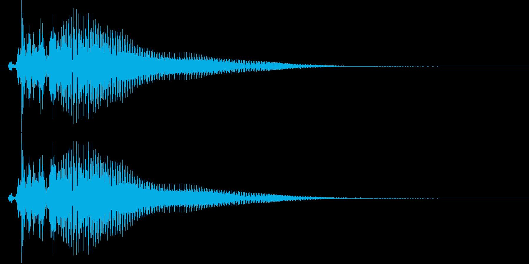 三味線で「ベベン」の再生済みの波形