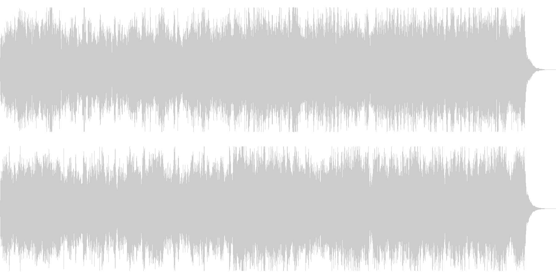 シネマチックでダークなオープニングの未再生の波形