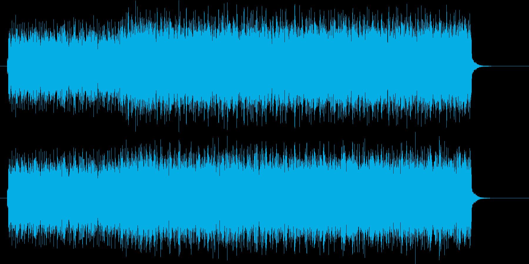近未来感のあるEDMのジングルの再生済みの波形