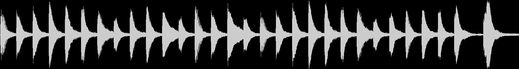 ループできるピアノのほのぼのメロディの未再生の波形