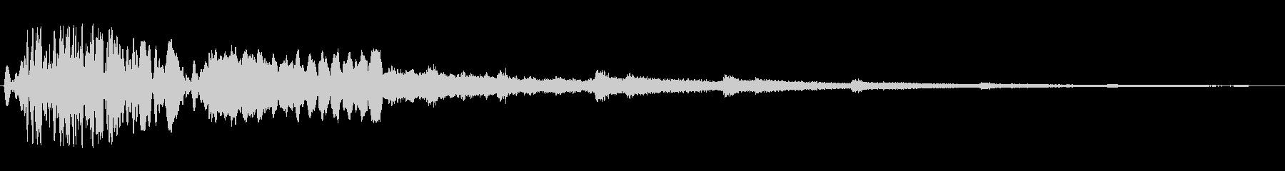 キラキラ(風が唸り輝くような音)の未再生の波形