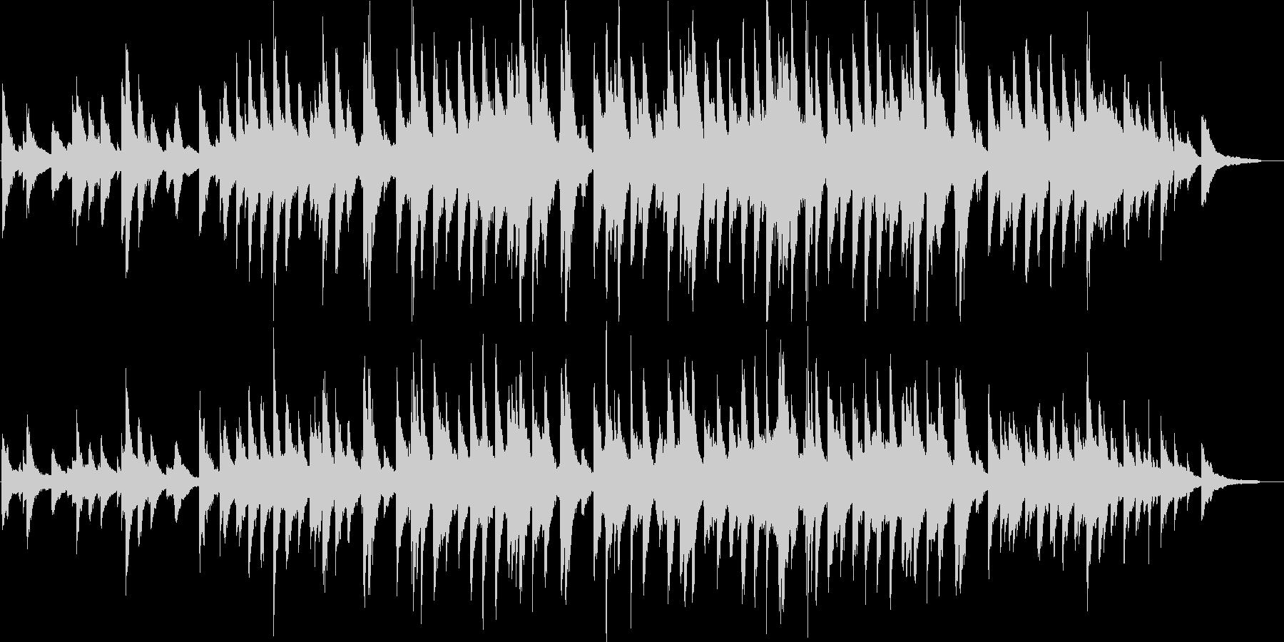 ピアノソロ・感動・達成・映像・イベント用の未再生の波形