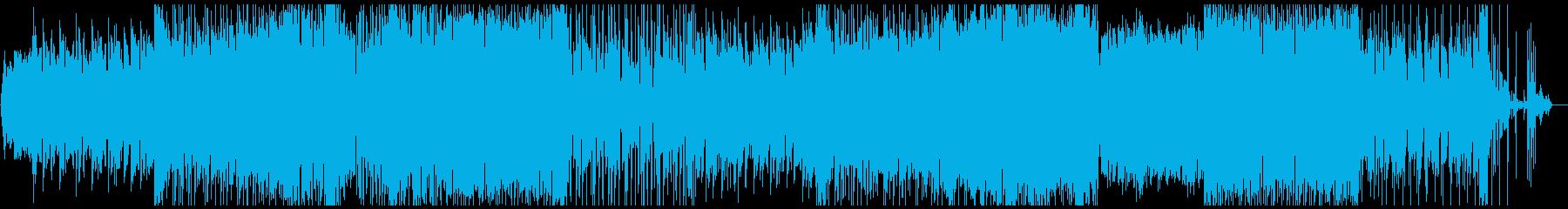 切なく悲しい雰囲気のあるBGMの再生済みの波形