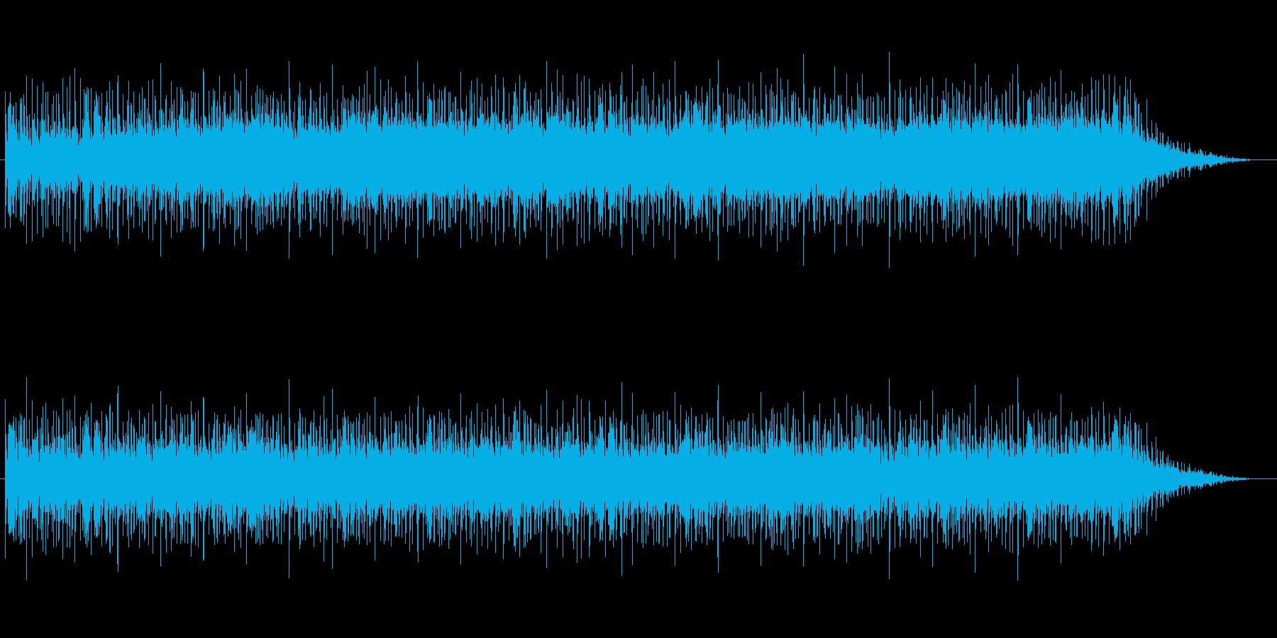 パワフルでわくわくするテクノポップの再生済みの波形