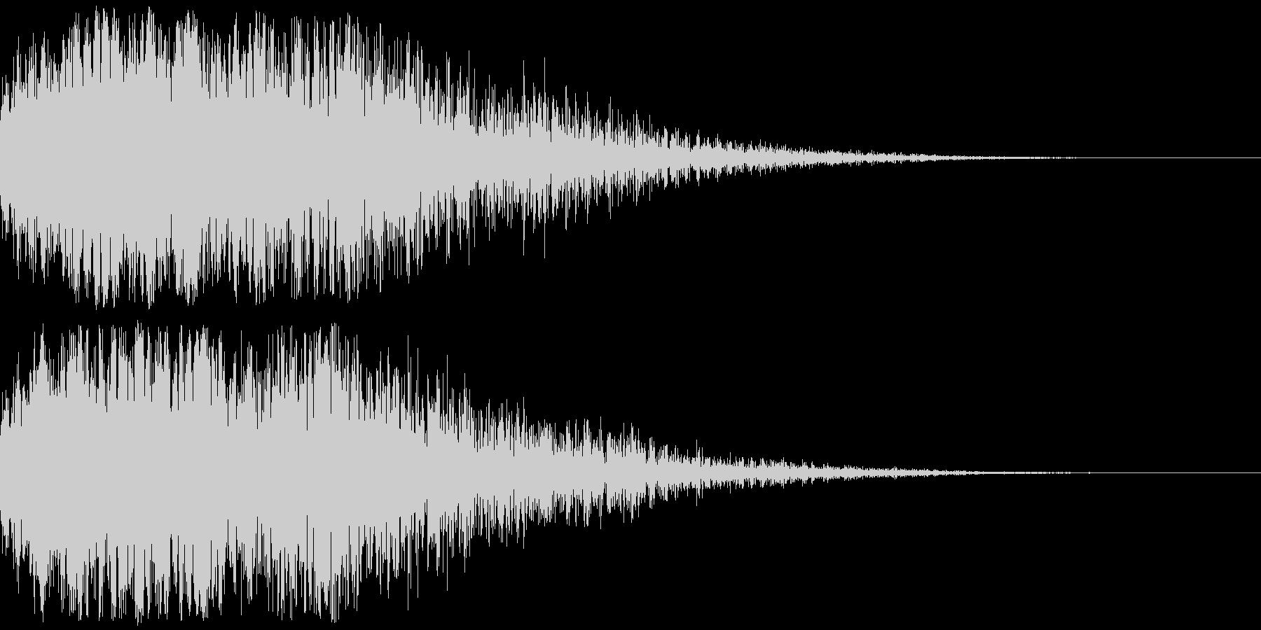 恐怖、驚きの印象付け効果(インパクト音)の未再生の波形