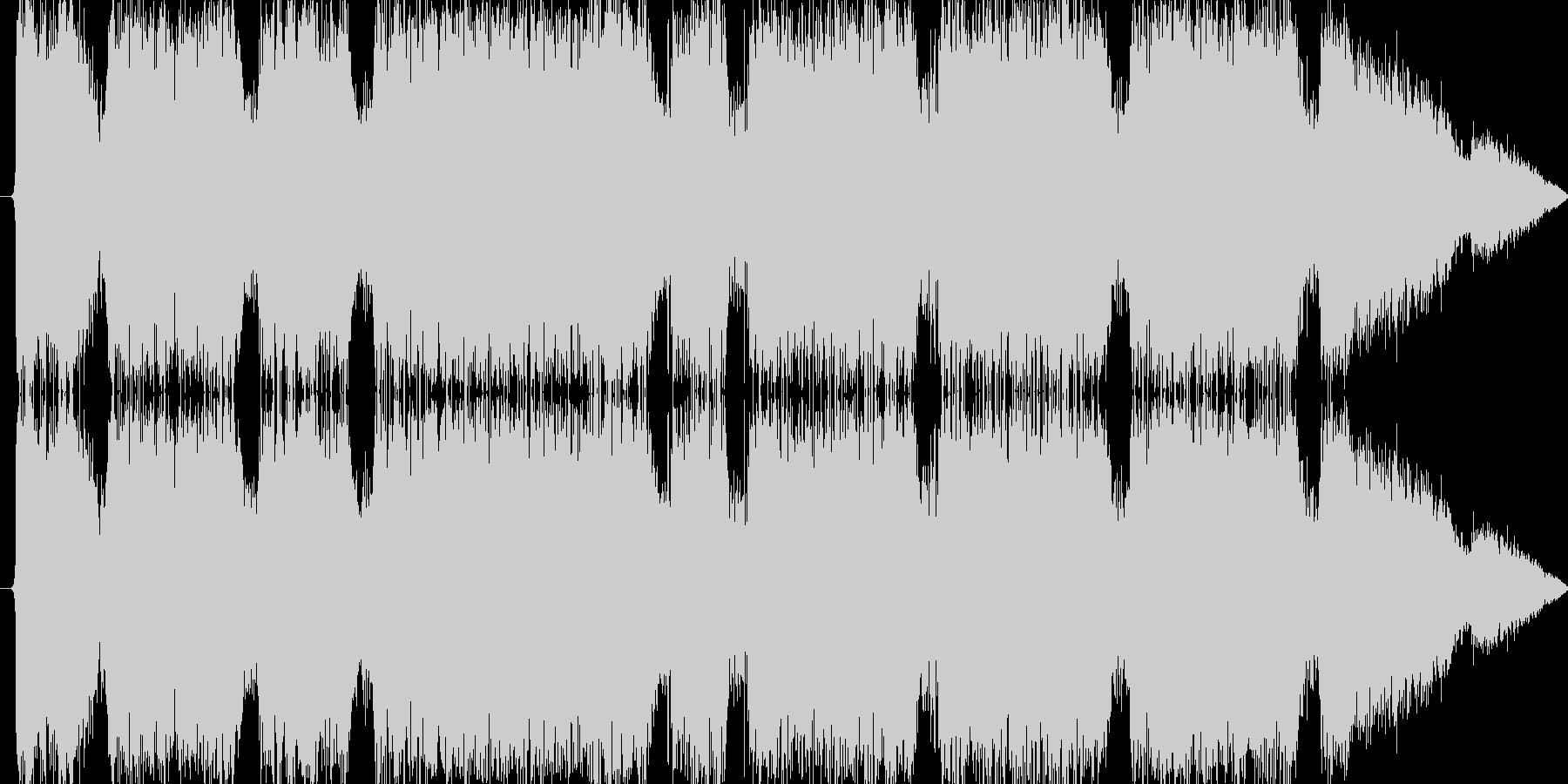 雷魔法(ほとばしる電撃)の未再生の波形