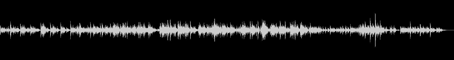 生ピアノソロ・しゃぼん玉ふわふわの未再生の波形