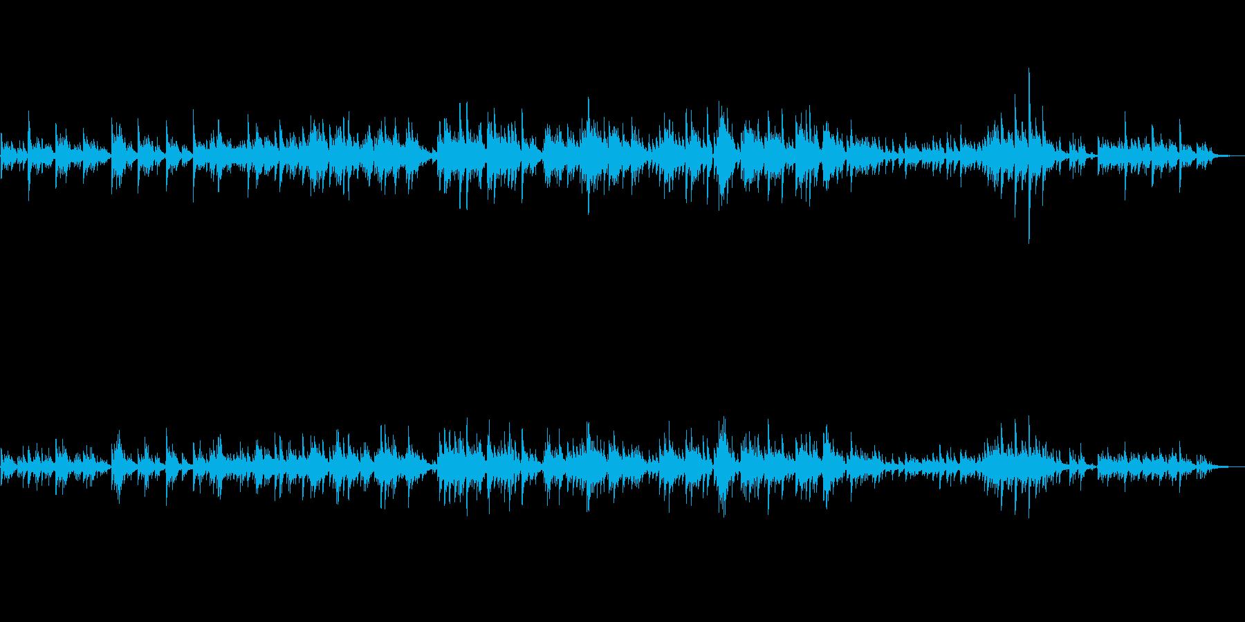 生ピアノソロ・しゃぼん玉ふわふわの再生済みの波形