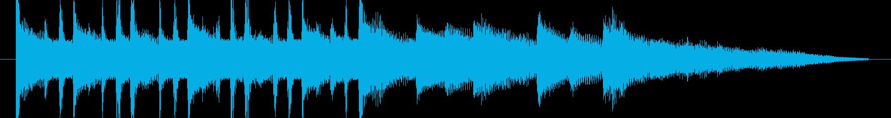 軽快でオシャレでキャッチーなジングルの再生済みの波形