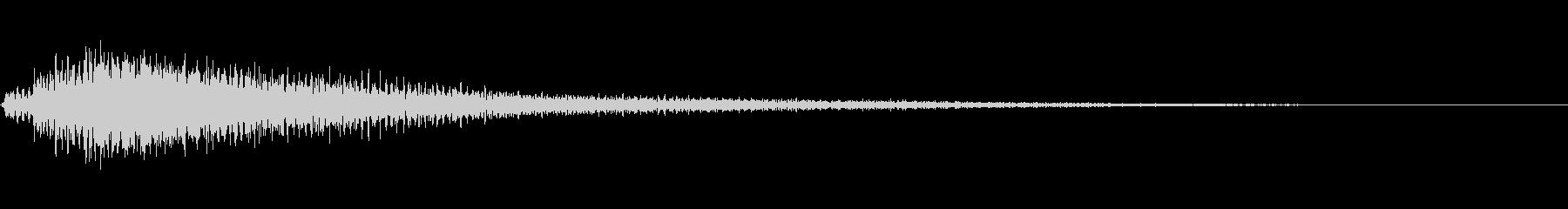 低音が効いているピアノジャラーン音の未再生の波形