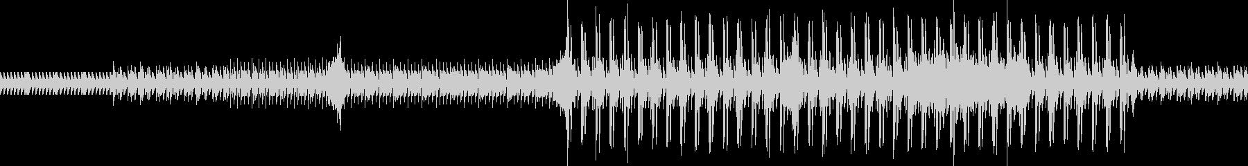 ループできるハイテンポの楽曲の未再生の波形