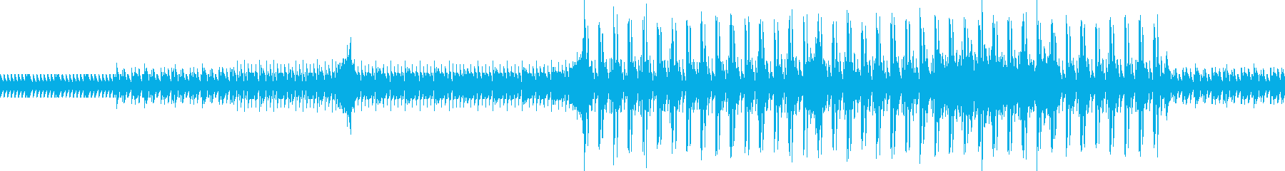 ループできるハイテンポの楽曲の再生済みの波形