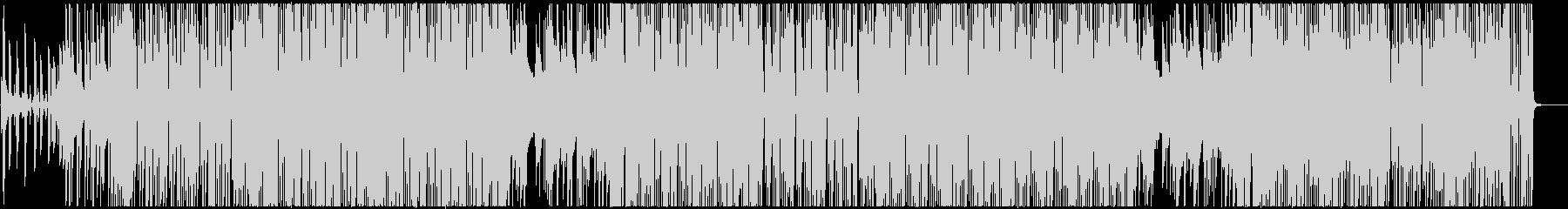 軽快でおしゃれなポップBGMの未再生の波形