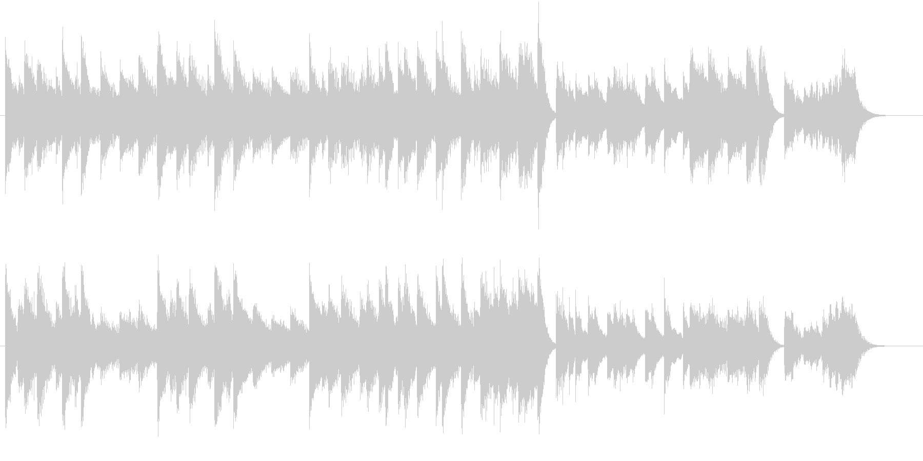 心が弾むファストブルース調ピアノジングルの未再生の波形