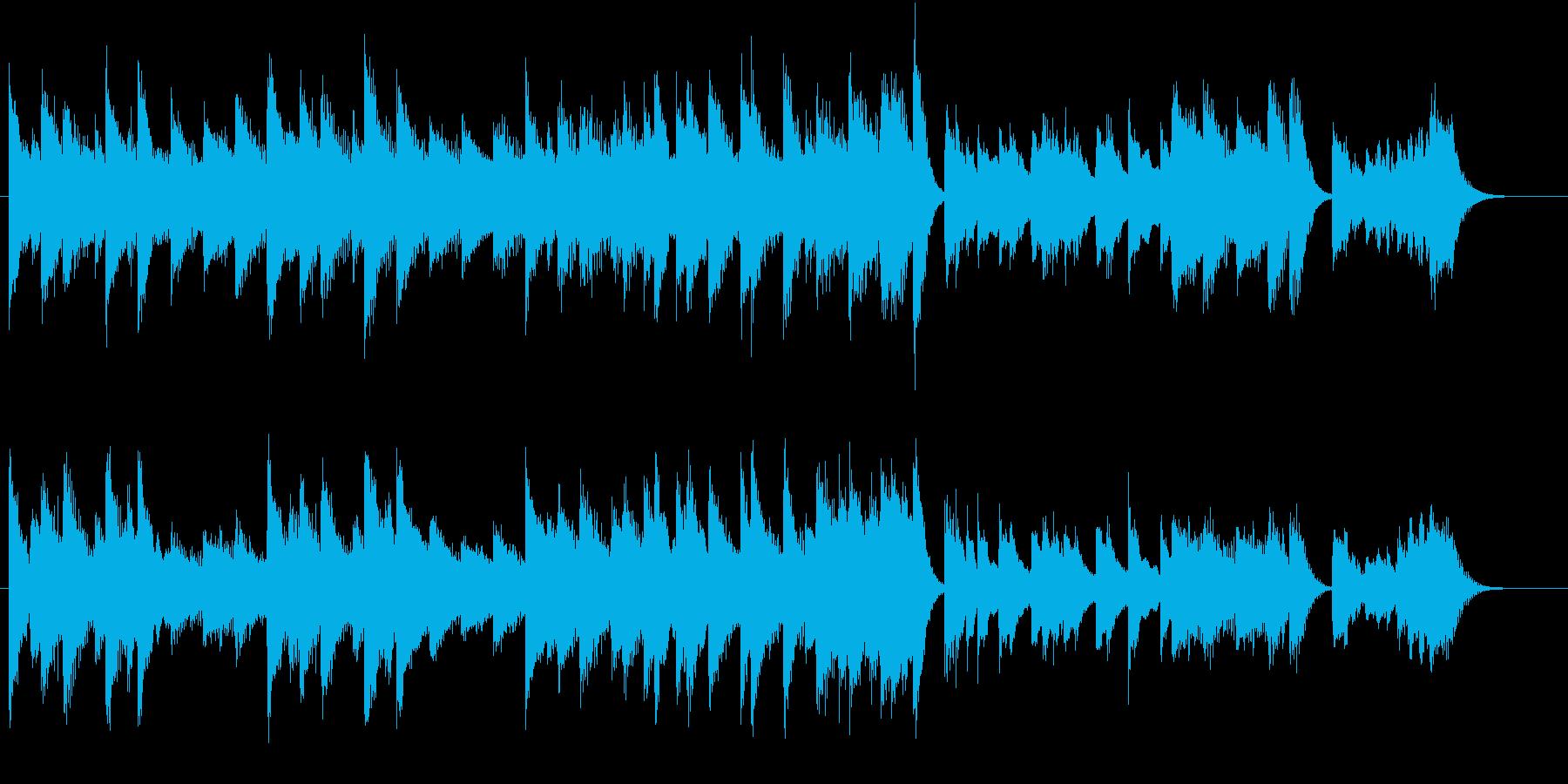 心が弾むファストブルース調ピアノジングルの再生済みの波形