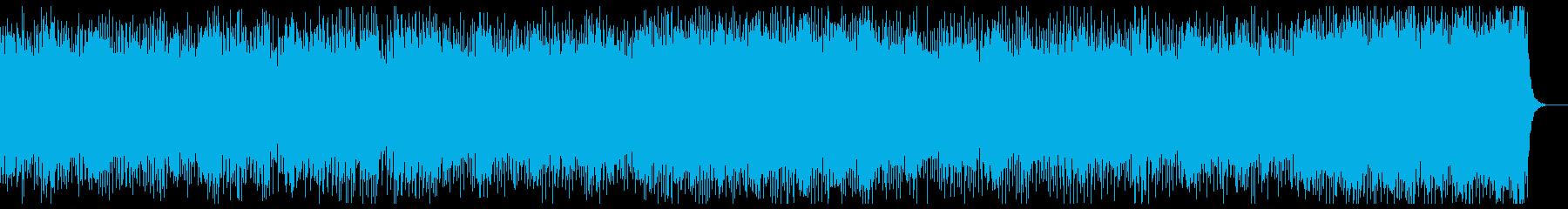 明るく軽やかな和風曲の再生済みの波形