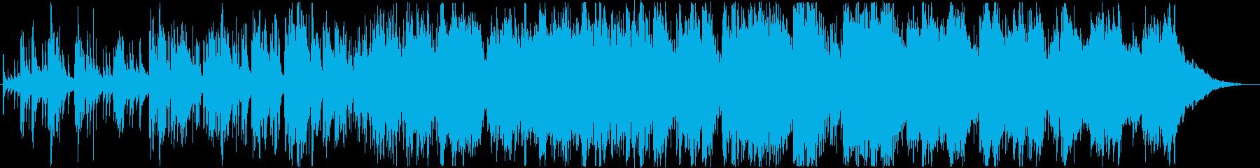 琴の音をアンビエントなパーカッションの…の再生済みの波形