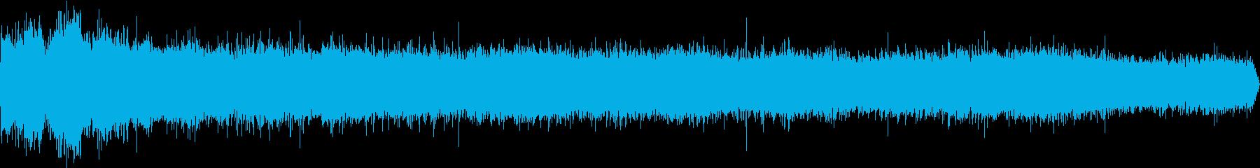 雨の音(強め)の再生済みの波形