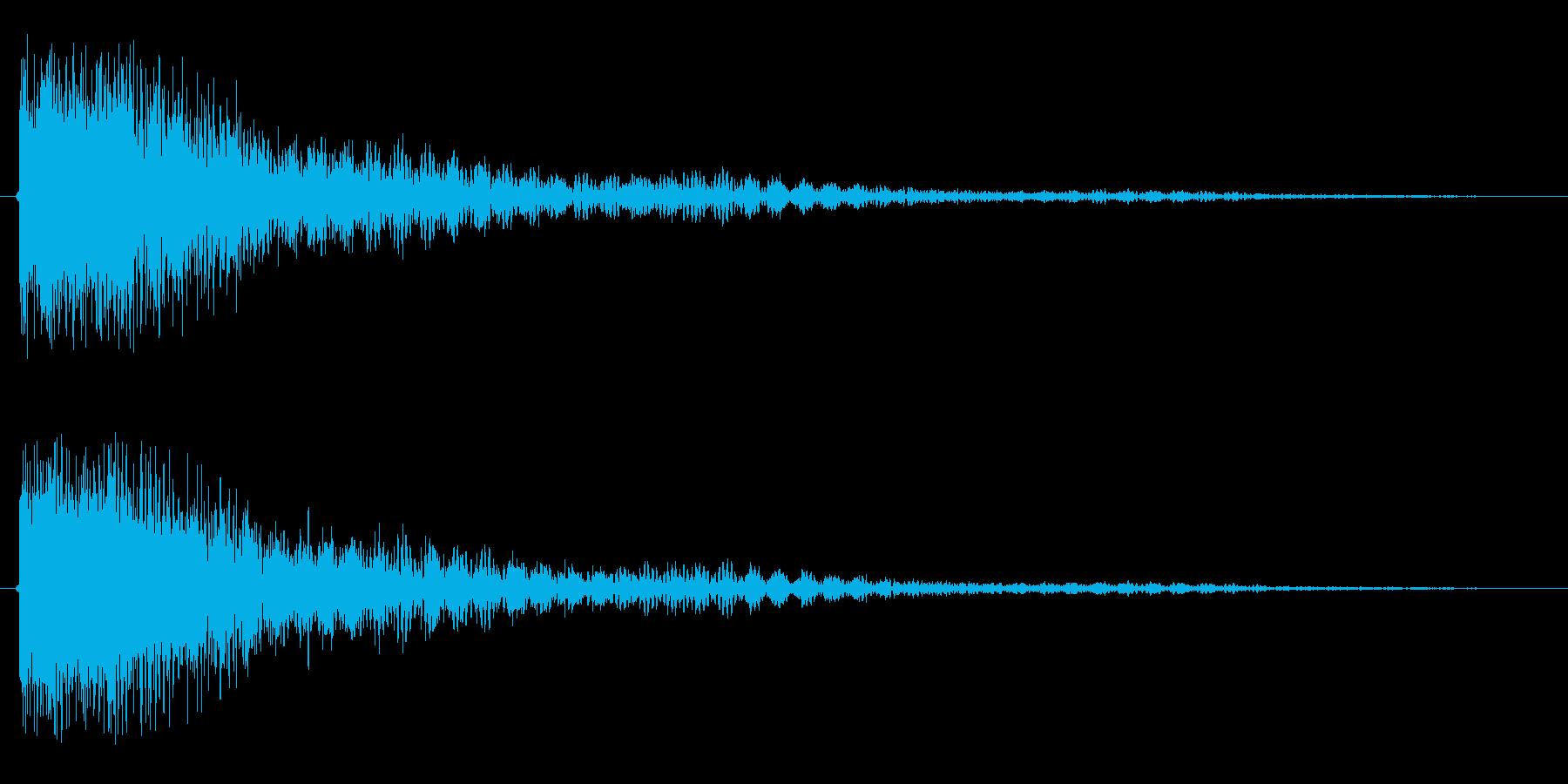 ガーン(ショック)の再生済みの波形