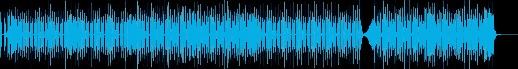 キュートでポップなわんぱく電子音+ピアノの再生済みの波形