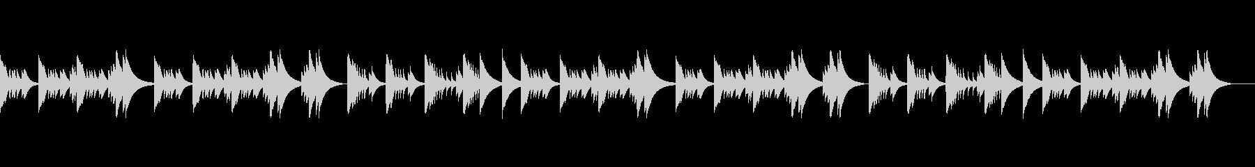 さびしげな歌メロ感のあるオルゴールBGMの未再生の波形