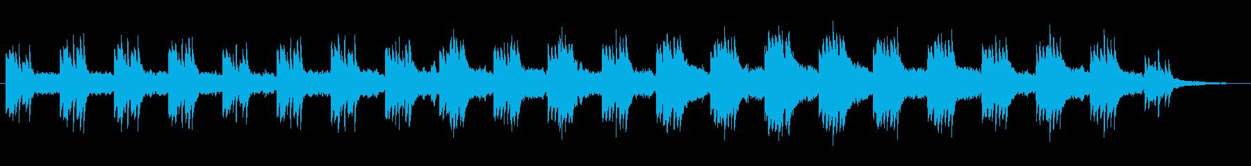 推理・謎解きの時に流れそうな不思議BGMの再生済みの波形