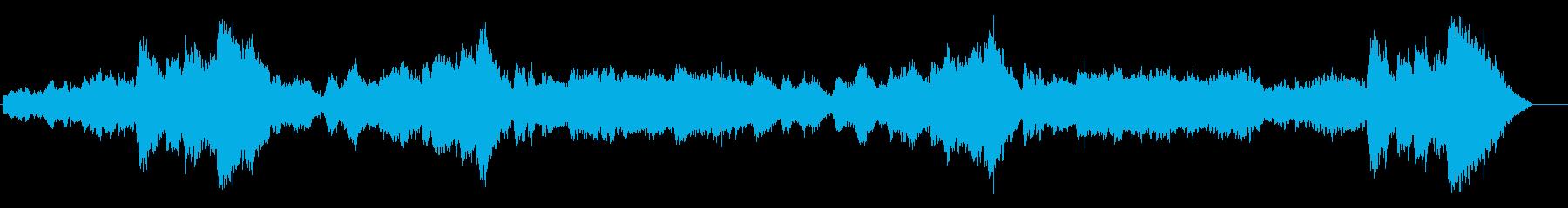 ドキュメンタリー系 断崖氷壁風サウンドの再生済みの波形