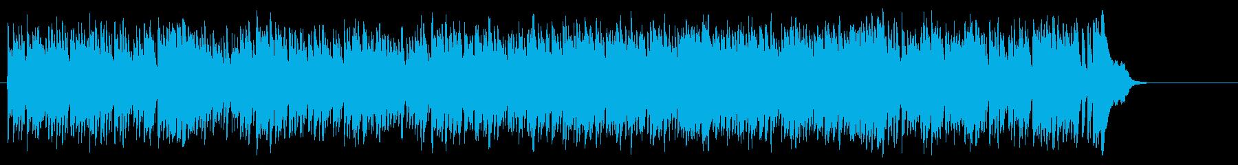リゾート気分に浸るボサノバ風ポップスの再生済みの波形