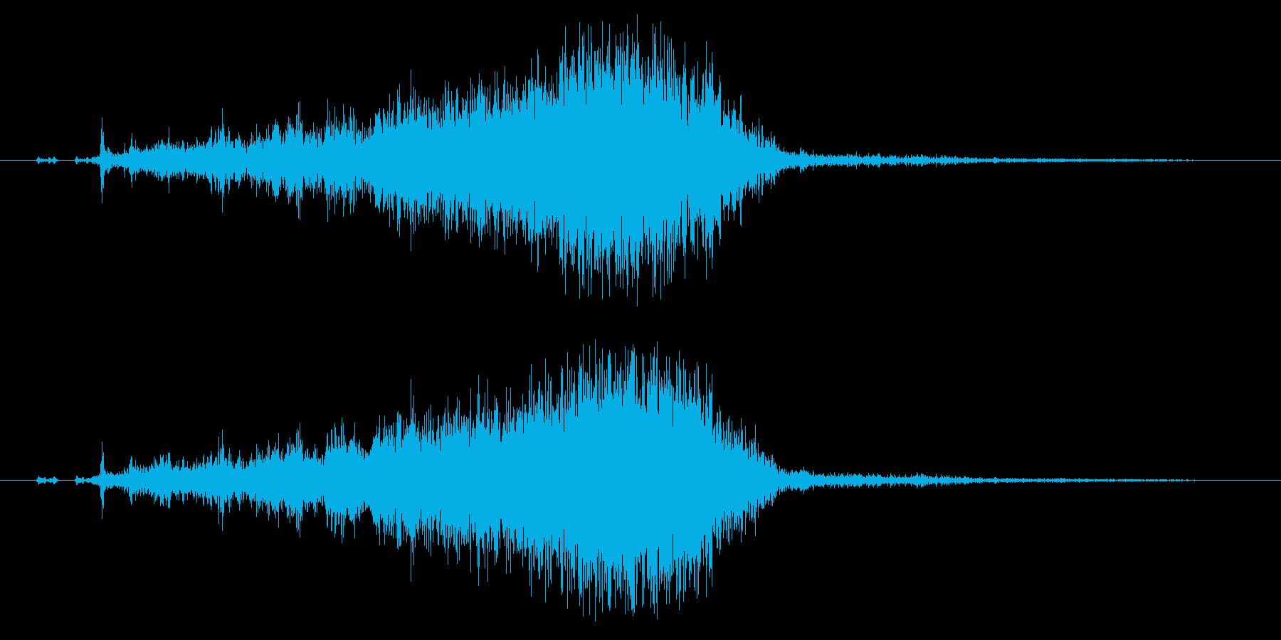 アイスホッケーの滑り込みスライディング4の再生済みの波形