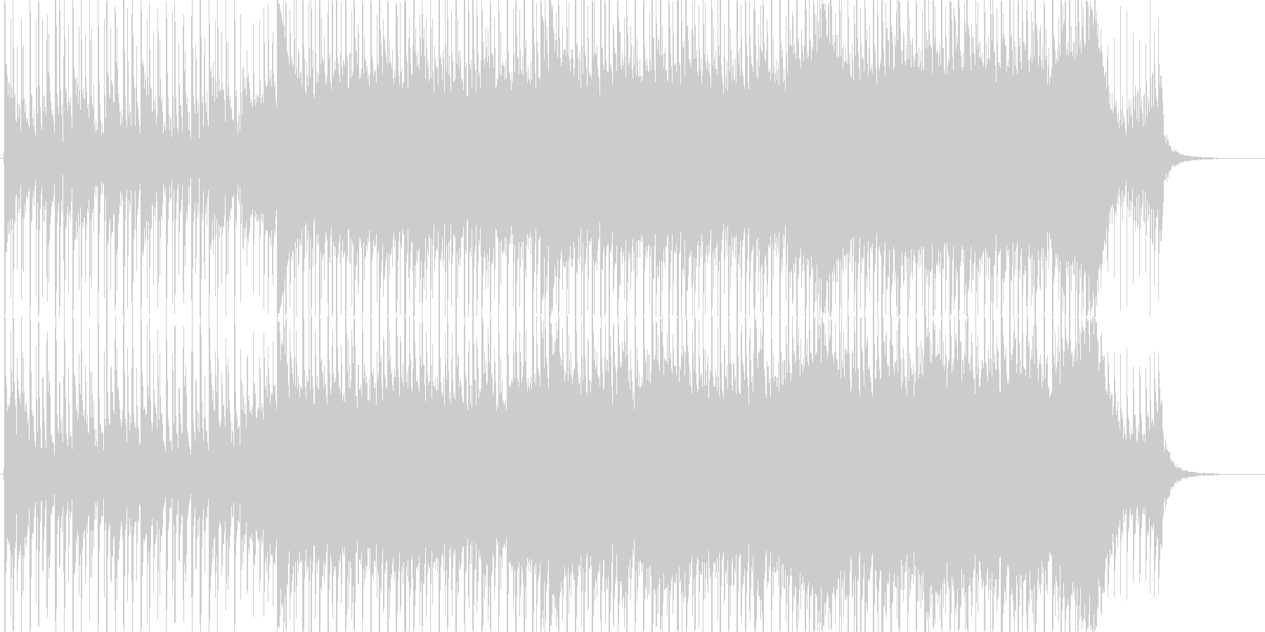 企業VP向け、爽やかポップ4つ打ち15bの未再生の波形