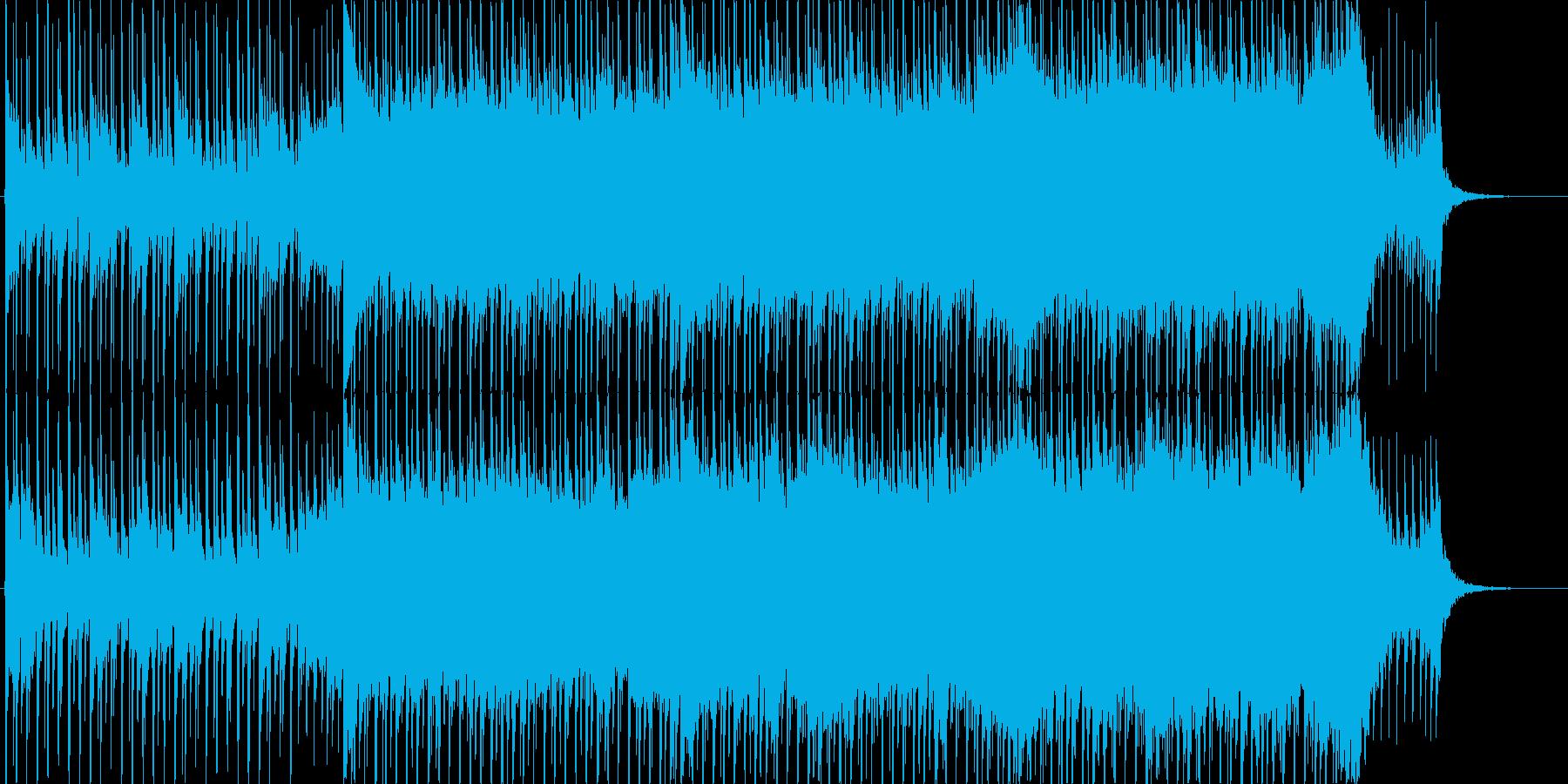 企業VP向け、爽やかポップ4つ打ち15bの再生済みの波形