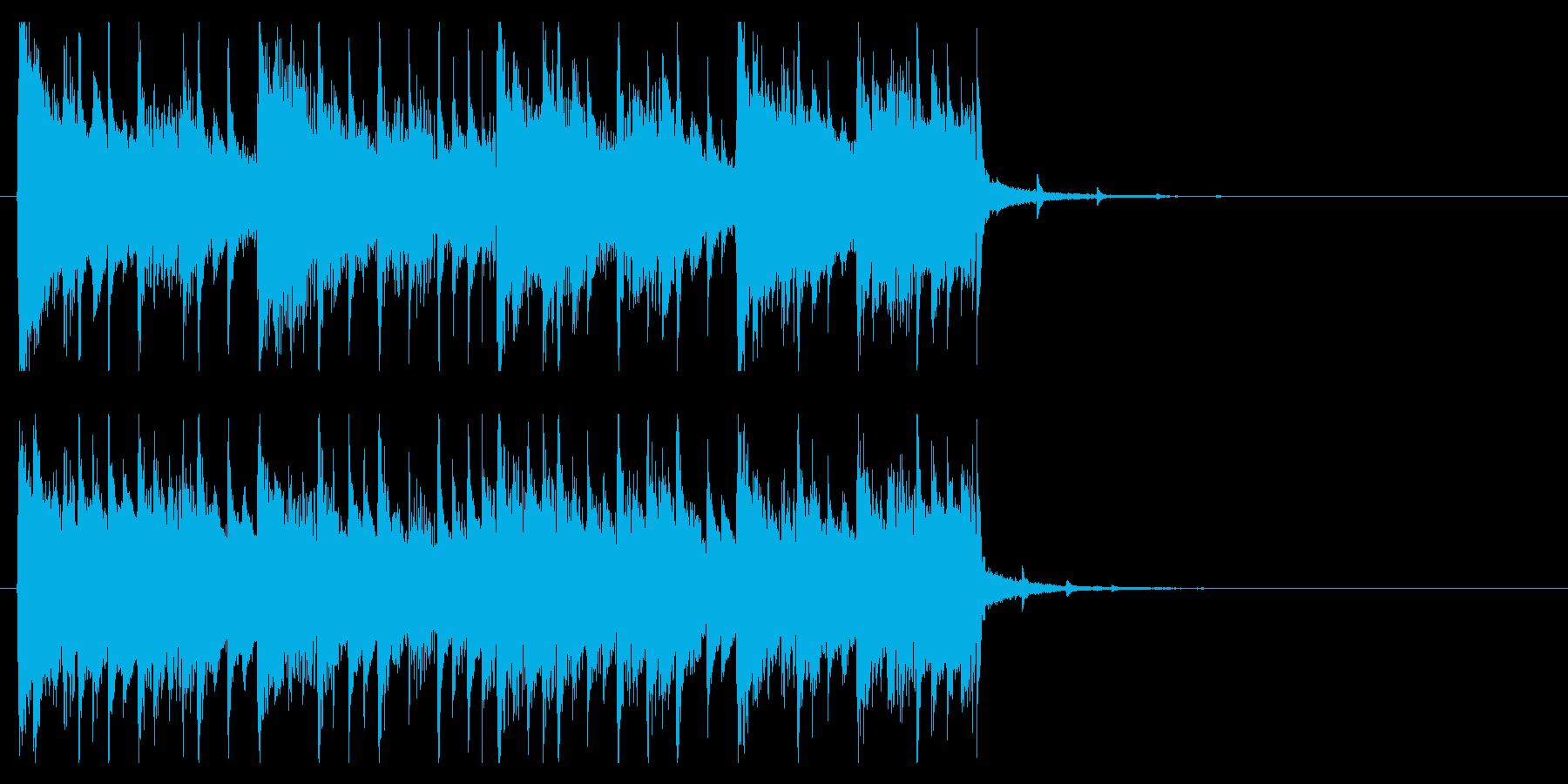 ピアノジングル 期待高まるわくわく感動の再生済みの波形