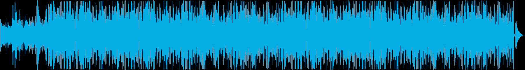 疾走感のあるフラメンコ風BGMの再生済みの波形
