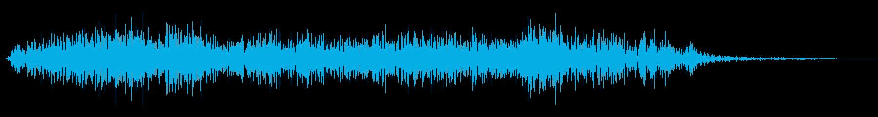 長期にわたる爆発の再生済みの波形