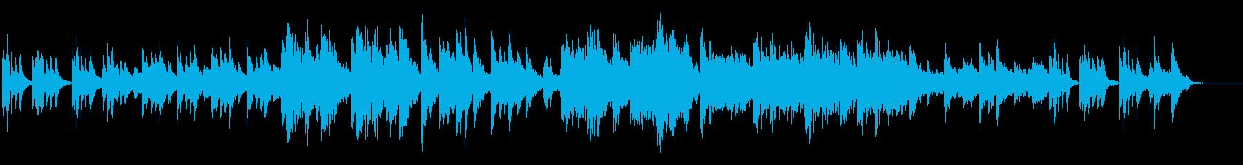 和風、琴が神秘的な癒しのバラードの再生済みの波形