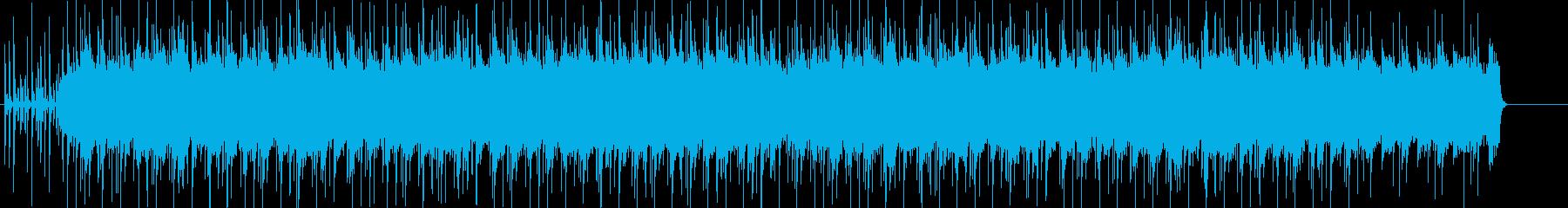 淡々としてクールなイメージのポップスの再生済みの波形