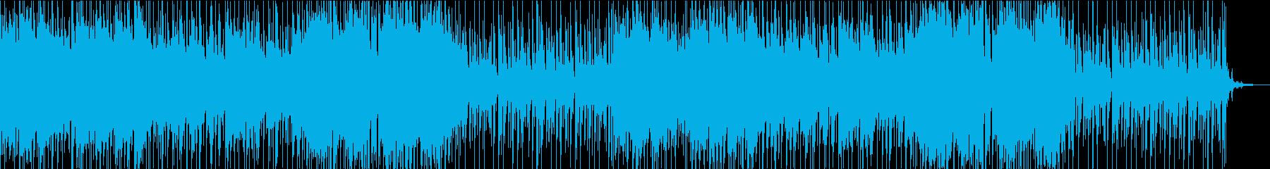 映像向けバラードBGMの再生済みの波形