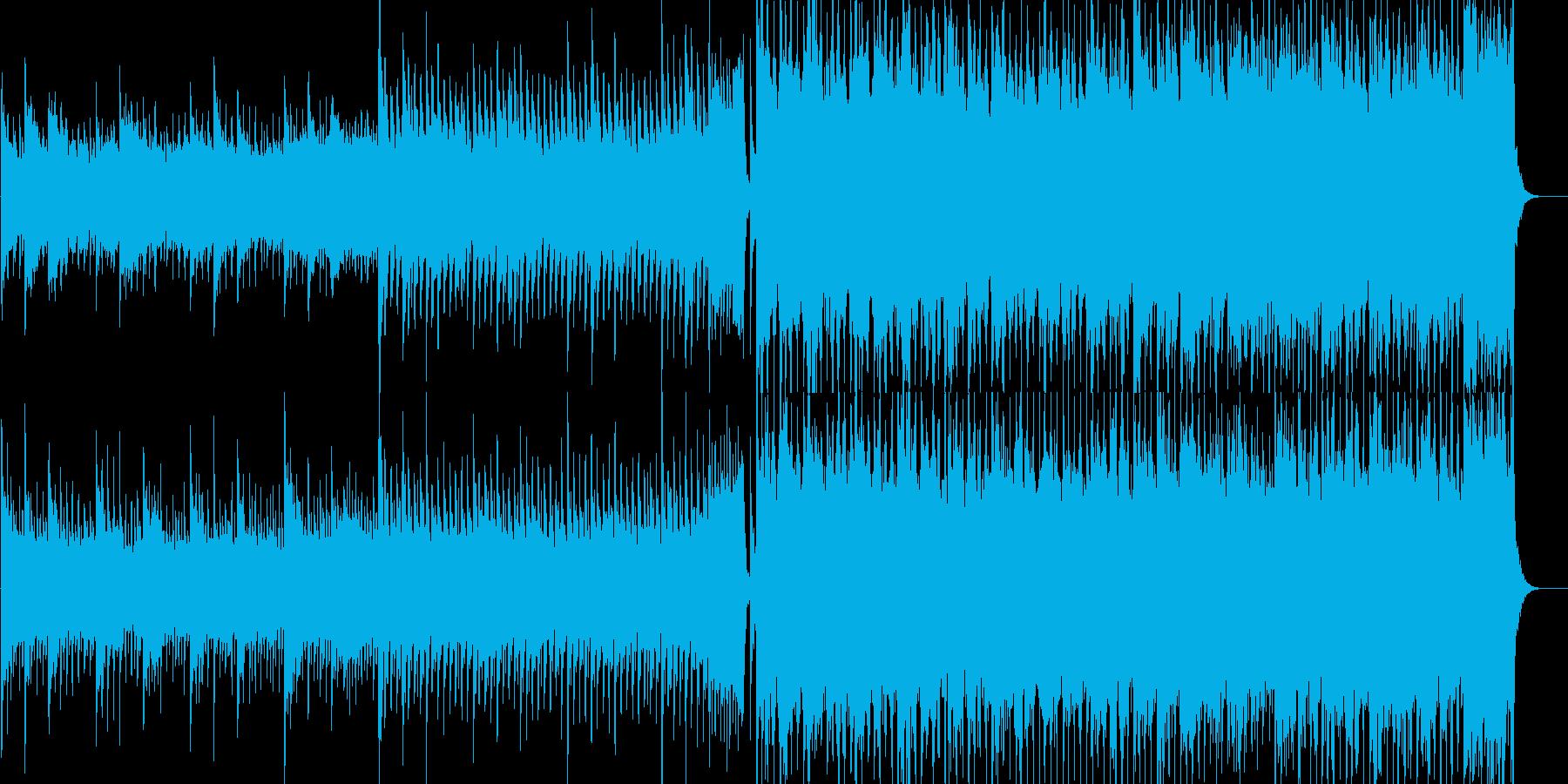 明るくアップテンポなEDM、ハウス曲の再生済みの波形