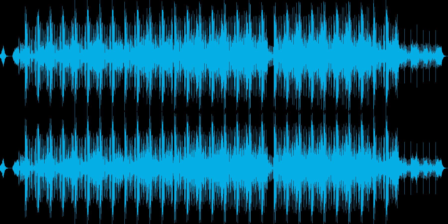 哀愁感のあるダウンテンポBGMの再生済みの波形