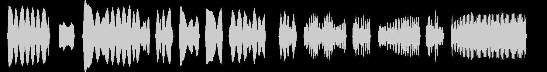 子守唄風ヘタウマリコーダーのみのジングルの未再生の波形