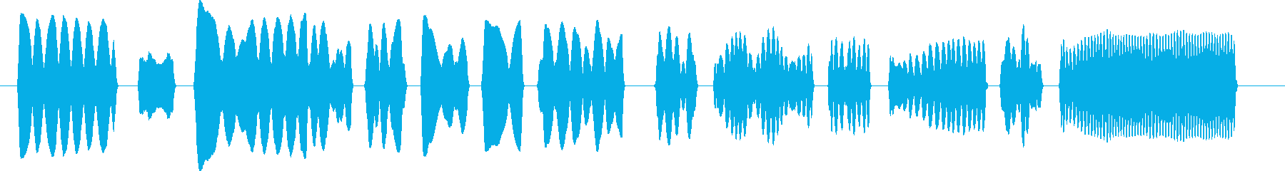 子守唄風ヘタウマリコーダーのみのジングルの再生済みの波形
